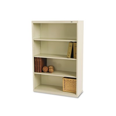 (Tennsco B53PY 34-1/2 by 13-1/2 by 52-1/2-Inch Metal Bookcase with 4 Shelves, Putty, Champagne)