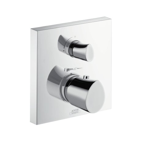 Hansgrohe Axor Starck Organic 12715000Shower Thermostat Flush-Mounted with Shut-Off Valve, Chrome