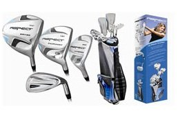 Affinity Aspect Ladies Right Hand Golf Club Set w/460CCDr+3WD+Hybrids+7, 8 & 9 Irons+SW & PW+Ladies Cart Bag+Putter; Regular or Petite Fast Shipping