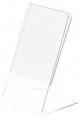 Postcard Holders Sleeves - Plymor Brand Clear Acrylic Sign Display/Literature Holder (Angled), 3