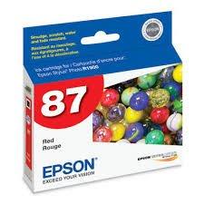 Epson Genuine Brand Name, OEM T087720 No. 87 Red Ultrachrome Hi-Gloss 2 Inkjet Cartridge for Stylus (Epson 87 Ultrachrome Ink)
