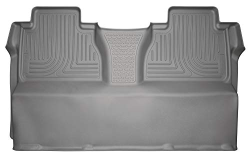 Husky Liners – 19582 Fits 2014-19 Toyota Tundra CrewMax Weatherbeater 2nd Seat Floor Mat (Full Coverage) Grey