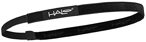 Halo Hairband Headband Sweatband Black 0.5 inch wide