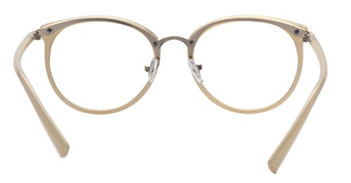 6cf479603e Amazon.com  Kelens Retro Optical Eyewear Non-prescription Eyeglasses Frame  with Clear Lens Beige  Clothing