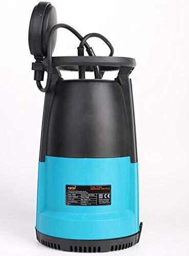 KATSU 151666E Tauch wasserpumpe Tauchpumpe Schmutzwasser schmutzige saubere Garten 400W mit 2 Basen 2mm