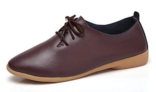 VenusCelia Women's Sung Oxford Flats Shoe(10.5 B(M) - Shoes Oxfords Brown Womens