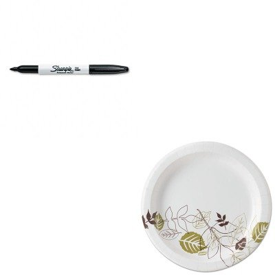 KITDXEUX9PATHSAN30001 - Value Kit - Dixie Pathways Mediumweight Paper Plates (DXEUX9PATH) and Sharpie Permanent Marker (SAN30001)