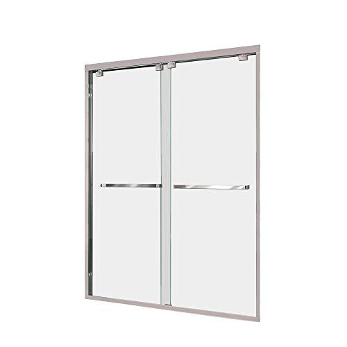 DreamLine Encore 50-54 in. W x 76 in. H Frameless Semi-Frameless Bypass Shower Door in Chrome, SHDR-1654760-01