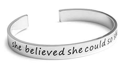She believed she could so she did. - Inspired - Hand Stamped 1/4
