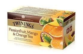 Twinings Passion Fruit, Mango & Orange Tea, Fine Tea with the Delicious Sweet Taste of Tropical Fruits 25 Sachets Net Weight (Orange Tropical Fruit)