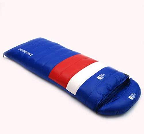 KYAWJY 封筒超軽量大人屋外ハイキングキャンプ暖かいグースダウン秋冬ダウン寝袋 B07N78Q3VX ブルー  ブルー