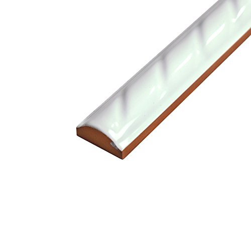 SomerTile WSP10WRP Cuerde Ceramic Pencil Wall Trim Tile, 1'' x 9.75'', White by SOMERTILE (Image #4)