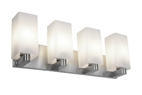 Access Lighting 50178-BS/OPL ArchiÃEWall and Vanity with Opal Glass Shade, Brushed Steel Finish by Access Lighting
