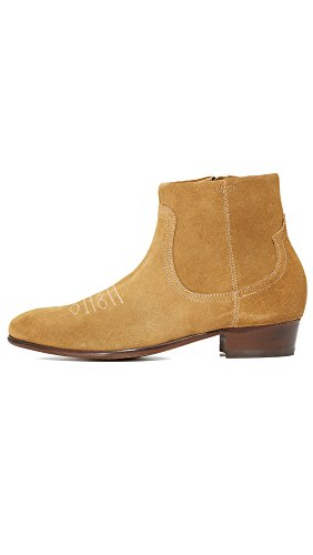 Hudson WINSTON Mens Suede Leather Zip Up Ankle Boots Sand Sand IfcKvIi