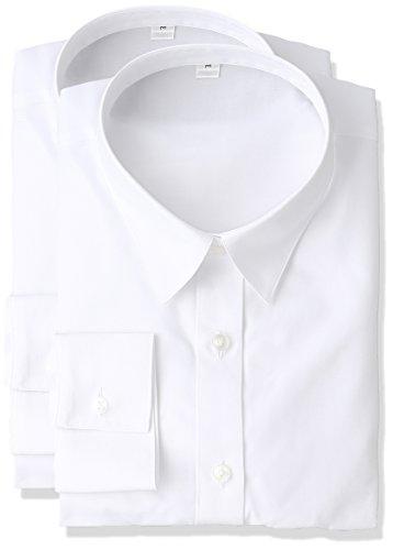 [セシール] シャツ 形態安定レギュラーカラーシャツ(長袖?2枚組セット) AN-974 レディース