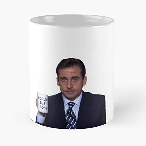 Michael Scott Worlds Best Boss - Best Gift Coffee Mugs 11 Oz Father Day
