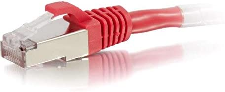 Red 00854 C2G 15ft Cat6 Snagless Shielded Network Patch Cable STP