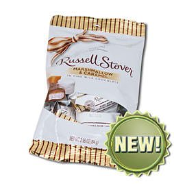 Russell Stover Marshmallow and Caramel, 2.95 oz. bag