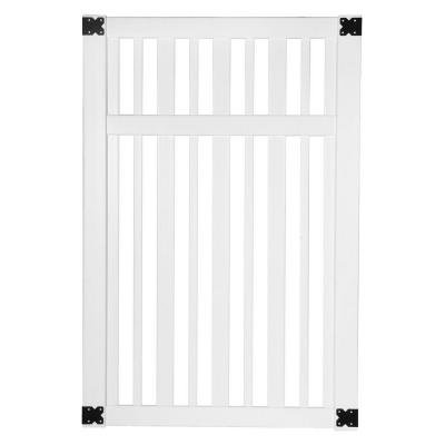 Pro Series 6 ft. x 4 ft. Lafayette Spaced Picket Walk Through Vinyl Fence Gate-Veranda-144722
