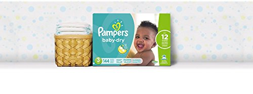 Diapers Size 3 (144 Count) - Pampers Baby Dry Disposable Baby Diapers, Giant Pack
