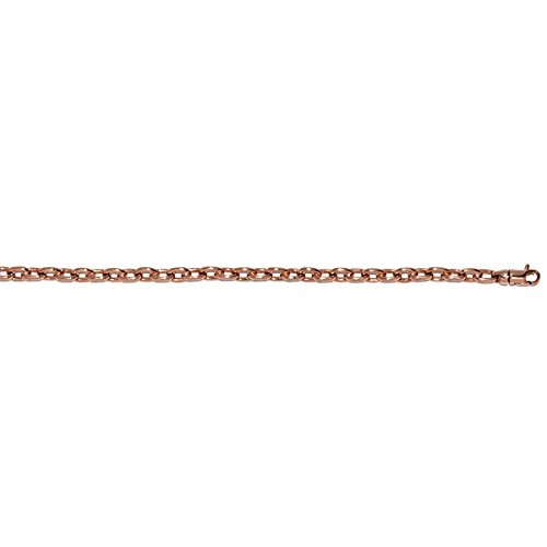14 ct Rosa Gold 4,7 mm Solid Link Armband – Länge Optionen  191 20
