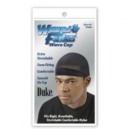 Boo Cap (Duke Waves & Fades Wave Cap, Black, 2 Count)