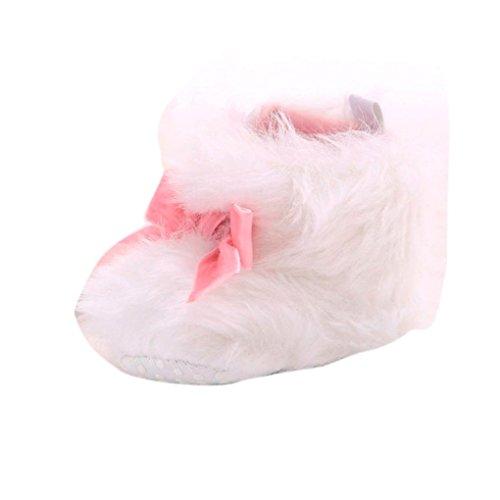 Ouneed® Krabbelschuhe , Weihnachten Baby Kleinkind Säuglingsmädchen Schnee Aufladungs weiche Sohle prewalker Krippe Schuhe Weiß
