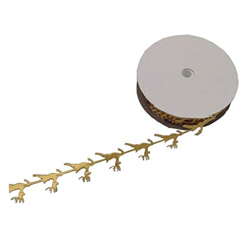 Christmas Wrapping Ribbon Roll DIY Wedding Cake Decoration Silver White Gold | Color - Gold