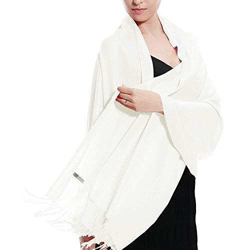 solido Sciarpa Ecru scialle Tinta Top cotone Colore Scialle Stola unita colori 30 con Accessorio e Trend seta Pashmina di xEURZ0