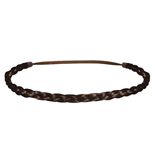 Mia Beauty Thin Braidie Head Band, Medium Brown, 0.05 Ounce