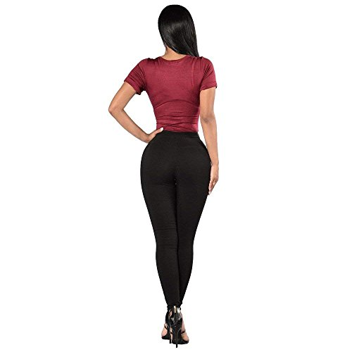 Bandage Moyen Rue HBA Simple Jeans Skinny de 194 Skinny Femmes lastique black Micro Pantalon Chic IRAH8nA