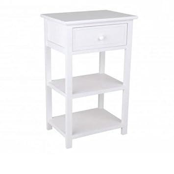 meuble de chevet blanc 1 tiroir 2 tagres table de chevet blanc 1 tiroir 2 - Table De Nuit Etagere