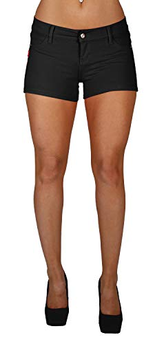 Basic Short Shorts Premium Stretch French Terry Moleton With a gentle butt lifting stitching in Black Size M