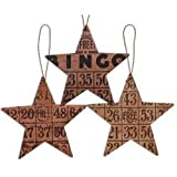 Heart of America Assorted Bingo Star Ornaments - Set of 3