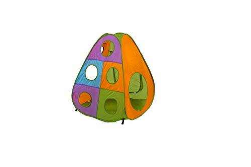 Playz 5 Piece Kids Pop Up Play Tent Crawl Tunnel And Ball