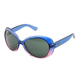Ray-Ban Junior 9048S 175/71 Sunglasses, Blue Pink Frame/Green Lens, 52mm