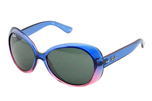 Ray-Ban Junior 9048S 175/71 Sunglasses, Blue Pink Frame/Green Lens, - Junior Ban Ray Case