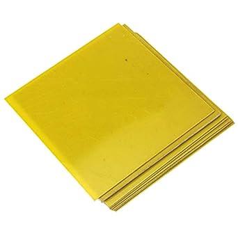 CynKen 1 Piece 1x200x200mm Yellow 3240 Epoxy Sheet Resin Glass Fiber Insulation Plate About 0.04x7.9x7.9