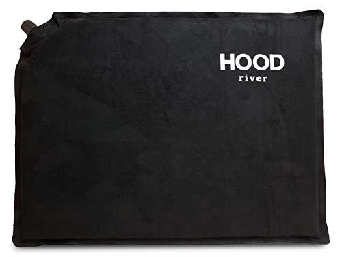 Hood River Self Inflating Seat Cushion - Waterproof Stadium Warm and Soft Microfiber 16
