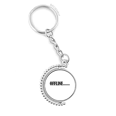 Stylish Characters Offline Rotatable Key Chain Ring Keyholder