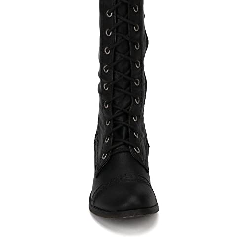 9fc3a3ebe65 Breckelles Women s Alabama-12 Knee High Riding Boots durable service ...