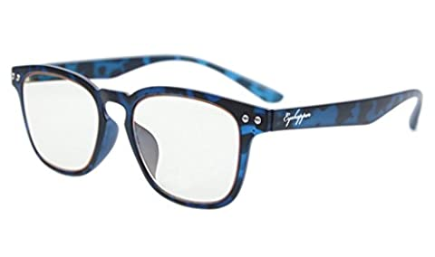 Eyekepper Vintage Flex Lightweight Plastic Frame Computer Glasses Readers Eyeglasses Blue Tortoise - Eyeglasses Light Blue Frame