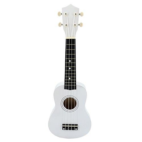 RuiyiF Toy Ukulele for Kids 21 Inch Soprano Wood Ukulele Kids Guitar for Girls Boys Beginner Age 3-5 with 4 Nylon Strings (White)