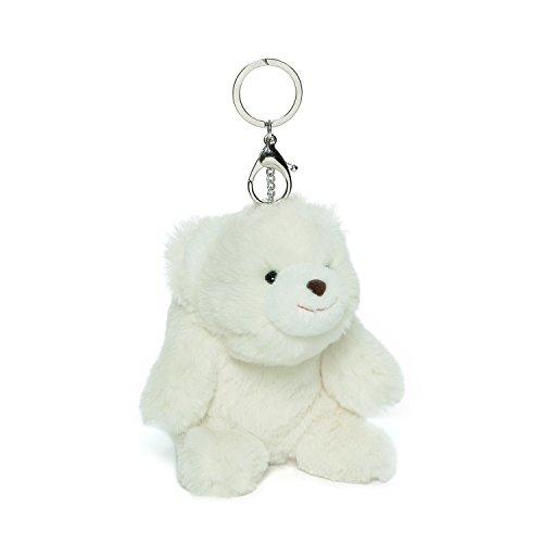 GUND Snuffles Teddy Bear Stuffed Animal Plush Keychain, White, 5