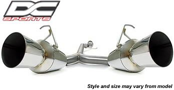 DC Sports DCS6501 Stainless Steel Exhaust System for Hyundai Tiburon (Dc Sports Stainless Steel Dual Exhaust System)