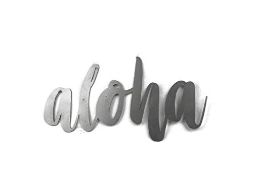 Raw Steel Unpainted Word Art - aloha small size (Film Exposures 12)