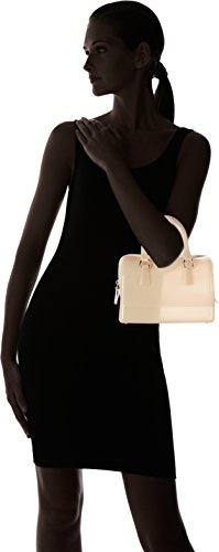Furla Candy Cookie Small Satchel - Bolsos maletín Mujer Beige (Acero)