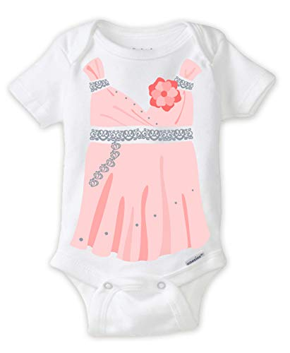 Funny Evening Gown Dress Up Coming Home Outfit Baby Girl Shower Gift Idea (12 Months) -