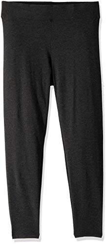 (HUE Women's Plus Size Cotton Ultra Legging with Wide Waistband, Assorted, Graphite Heather,)