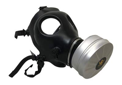 Israeli Style Rubber Respirator Mask NBC Protection w/Premium Aluminum Mask 40mm FILTER canister For Industrial Use Chemical Handling Painting, Welding, Prepping, Emergency Preparedness KYNG TACTICAL by Kyng Tactical (Image #5)